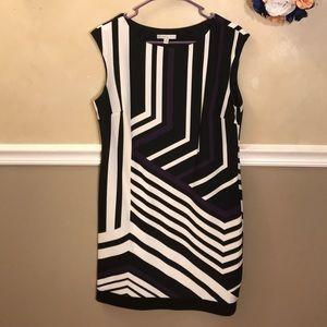 Sandra Darren geometric print sheath dress